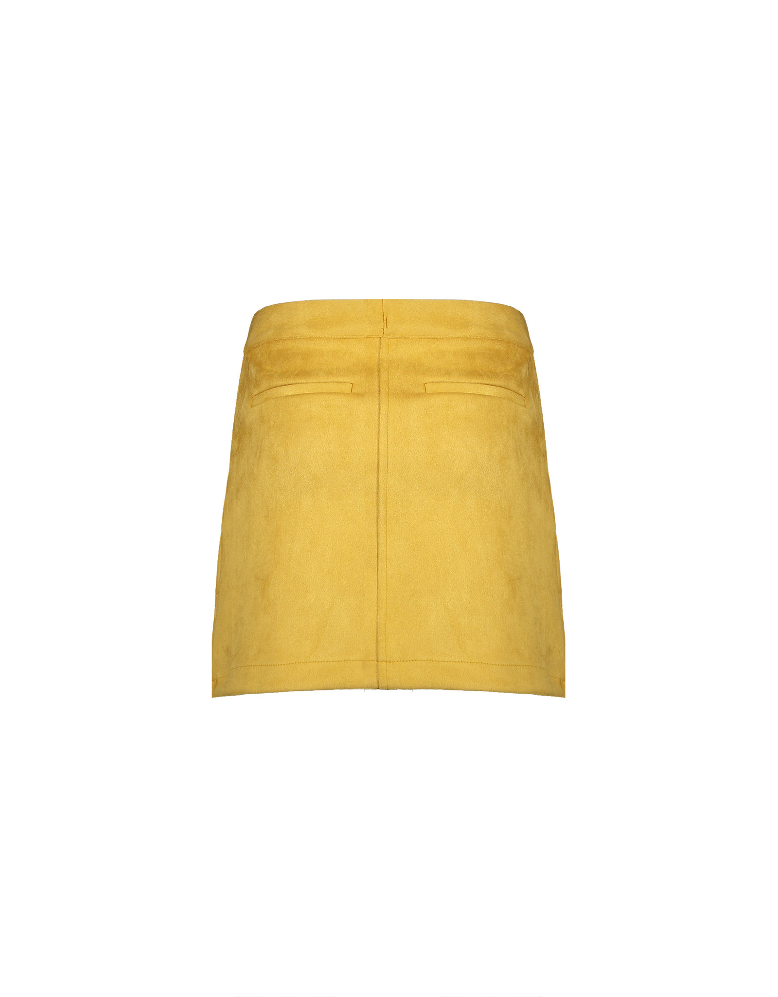 NoBell NoBell NishaB Soft Suede short A-line skirt YELLOW GOLD