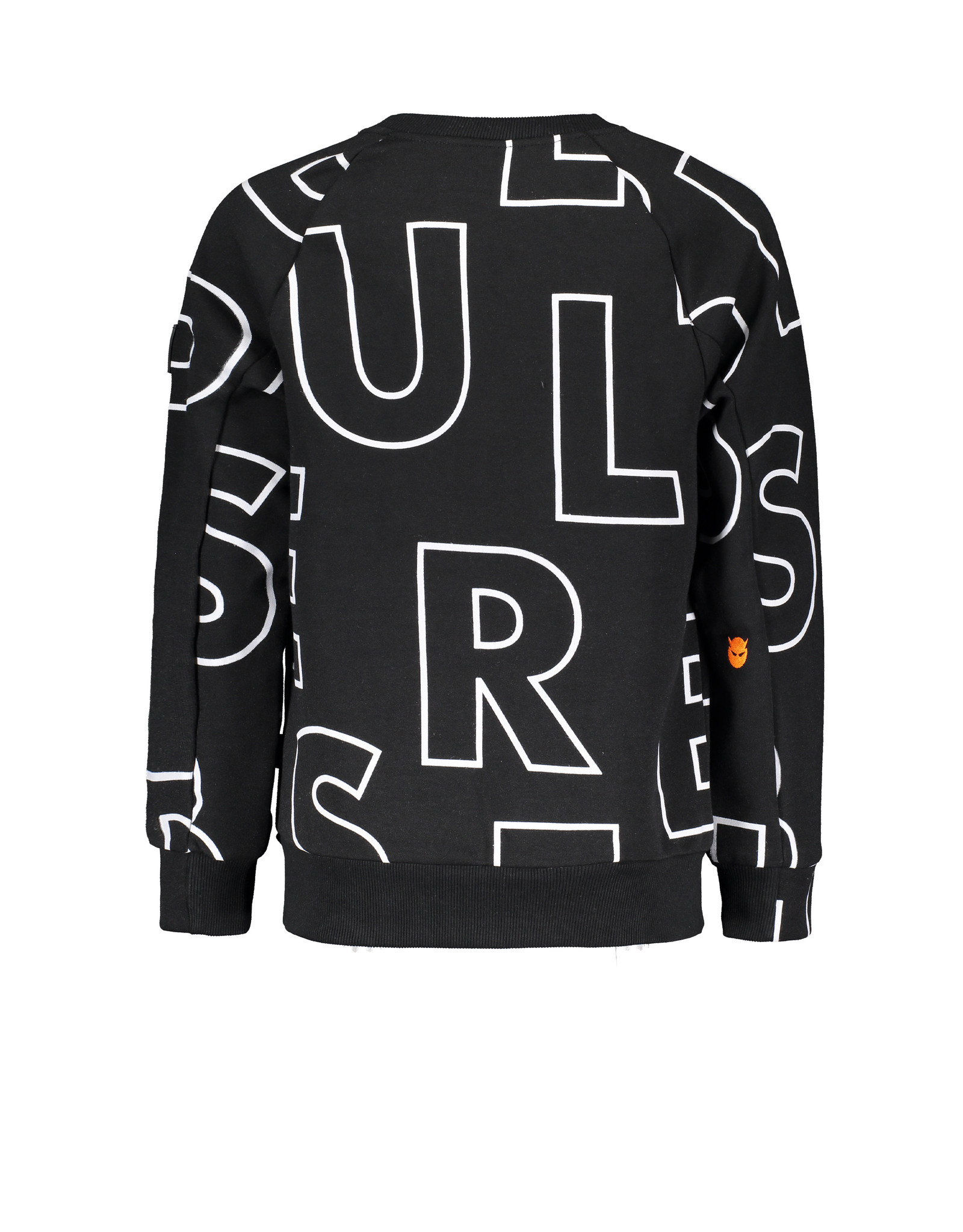 Super Rebel Super Rebel Round neck Sweater Raglan TEXT WHITE