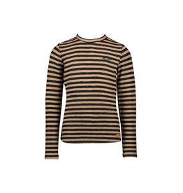 NONO NONO Kana Yarn Dyed T-shirt Ruffled Collar ANIMAL