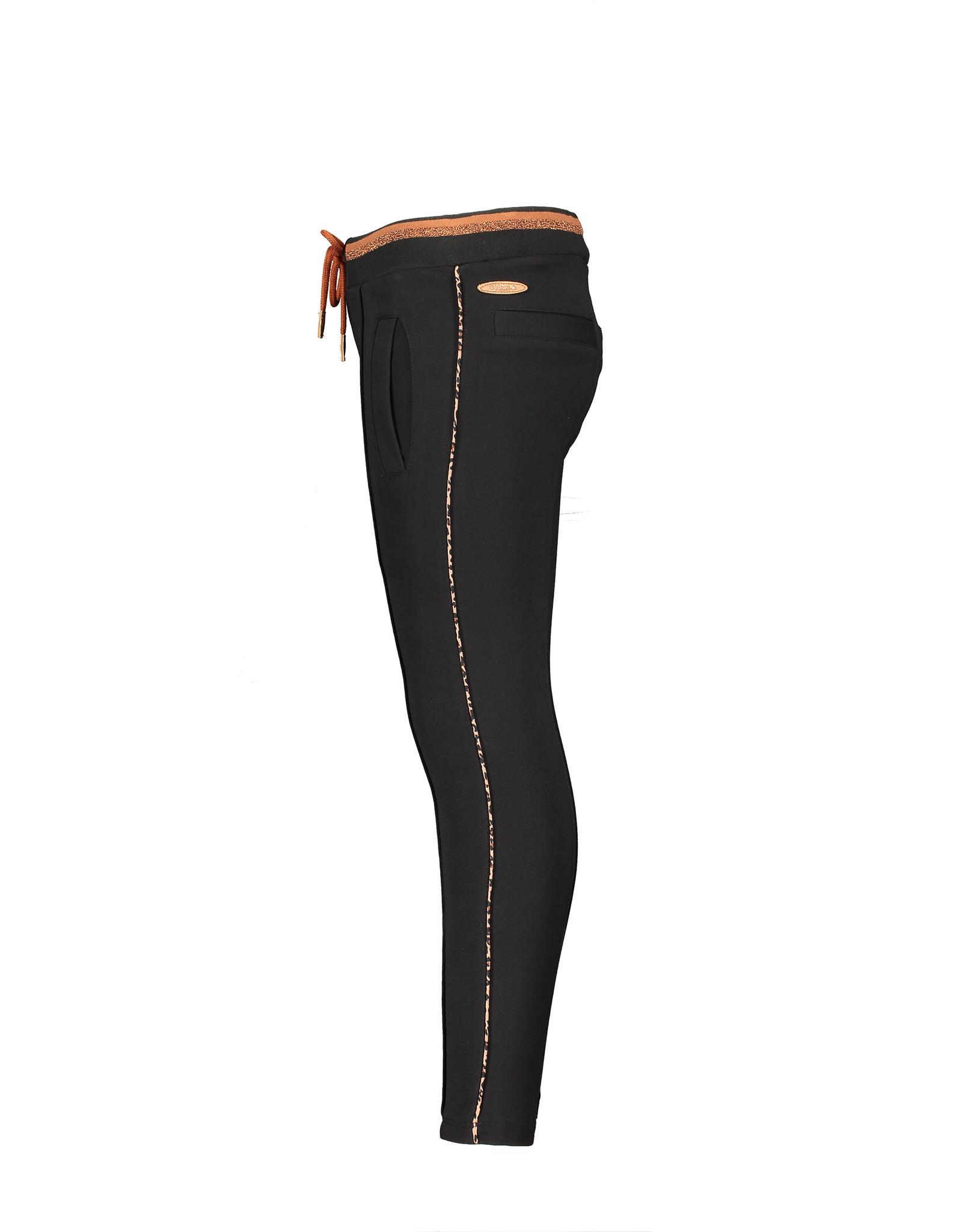 NONO NONO SeclerB Sweat pants with Leopard JET BLACK