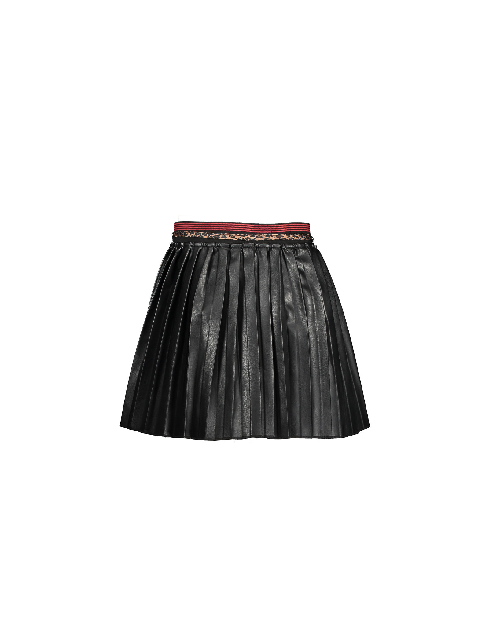 NONO NONO Nom Pleated fake leather short Skirt JET BLACK