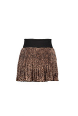 NONO NONO NalyB half pleated short Skirt ANIMAL