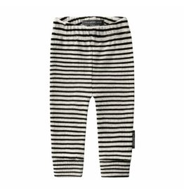 Your Wishes Your Wishes Beige Stripes Fitted Pants Chalk