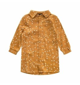 Your Wishes Your Wishes Confetti Blouse Dress Gold