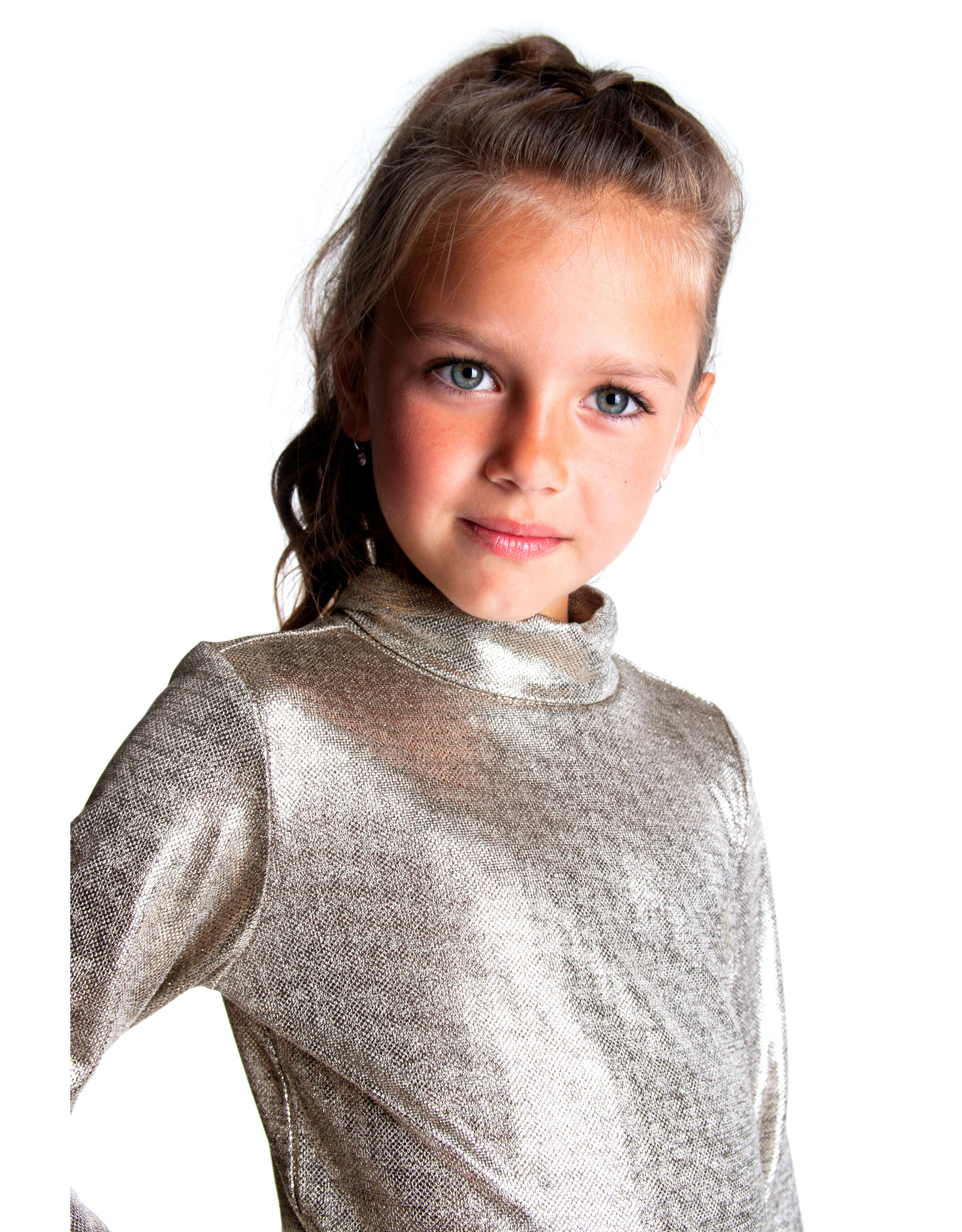 B.Nosy B.Nosy Girls Melee foil shirt CHAMPAGNE