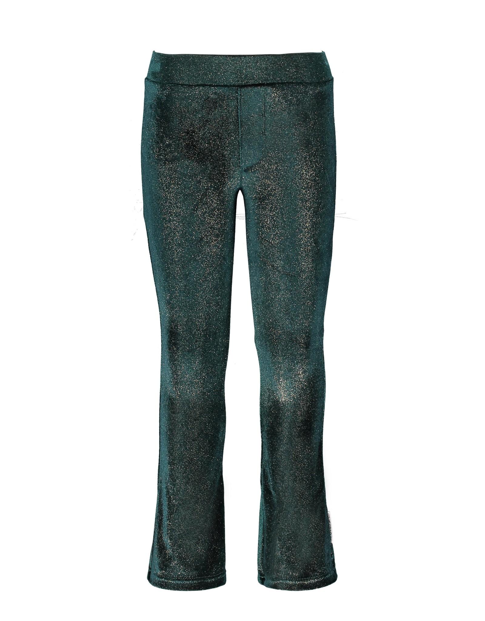 B.Nosy B.Nosy Girls Glitter Velvet Flaired pants BOTANICAL GREEN