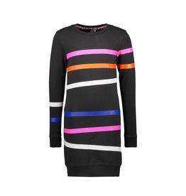 B.Nosy  Girls Sweat Dress With Printed Stripes
