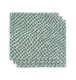 Jollein Jollein Monddoekje hydrofiel Snake Ash Green  (3-pack)