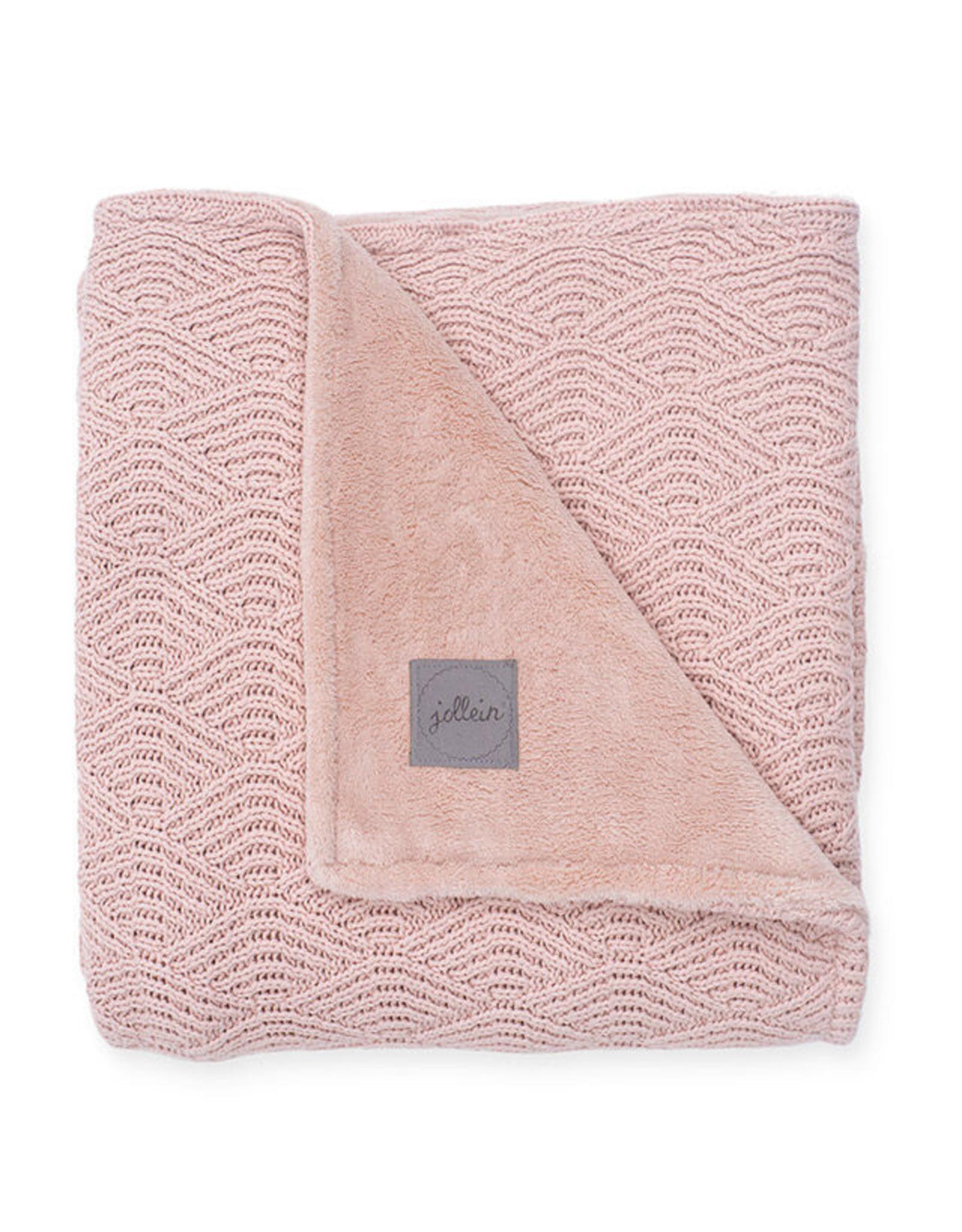 Jollein Jollein Deken 4 Seizoenen 100x150 cm Pale Pink/Coral Fleece
