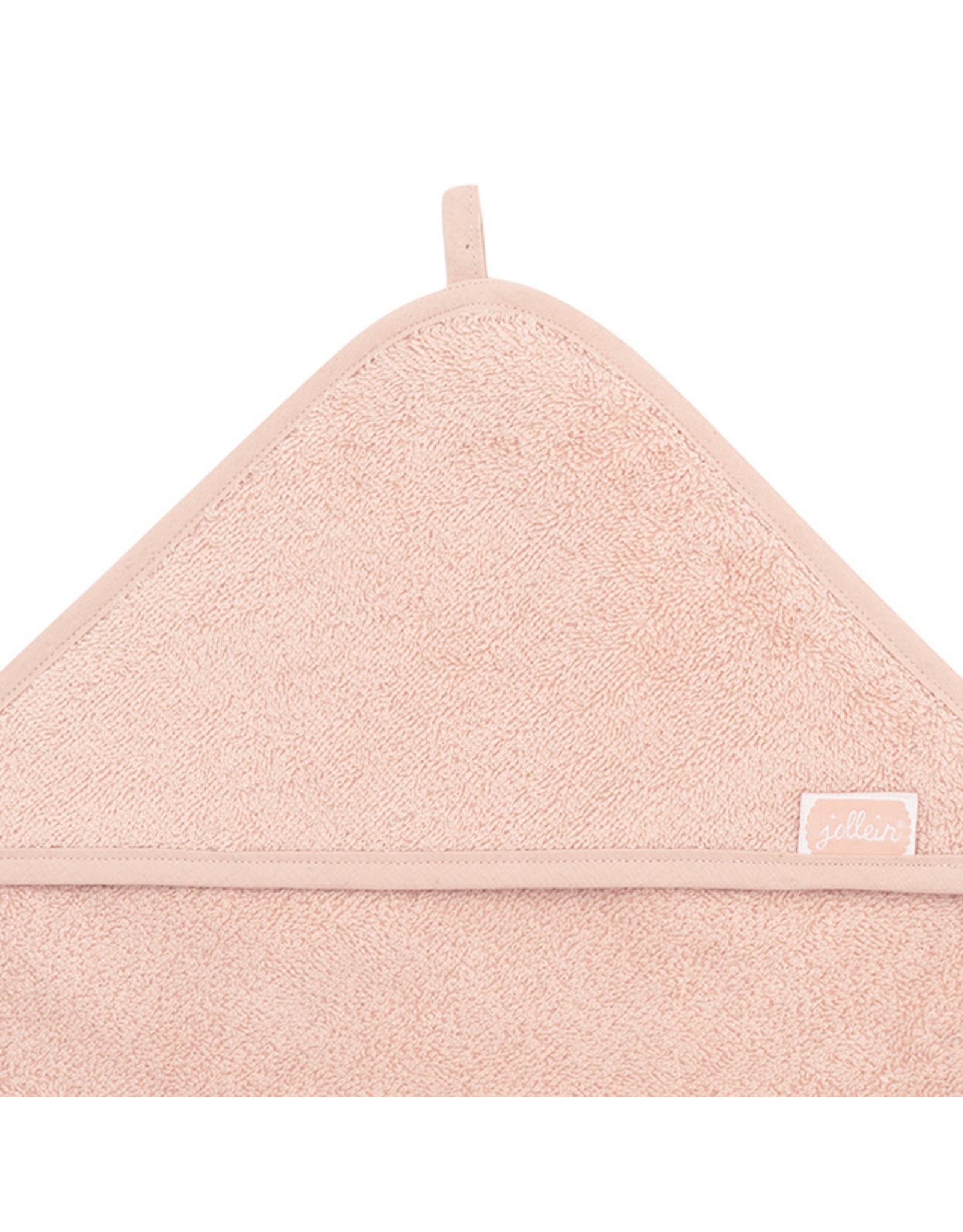 Jollein Jollein Badcape Badstof Pale Pink 75x75 CM