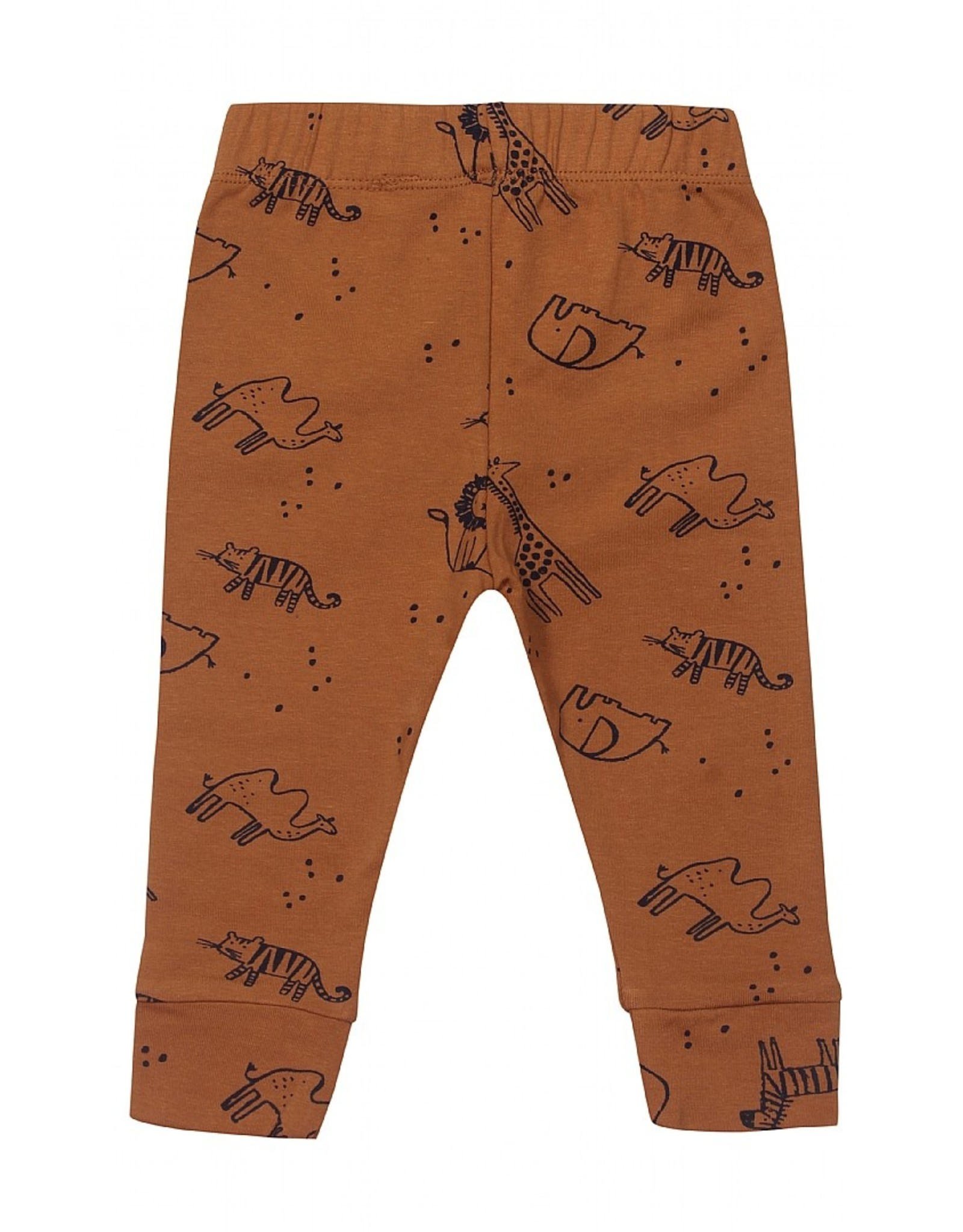 KIDS UP Kids Up Pants AOP Brown