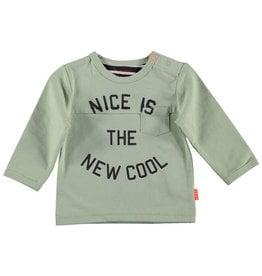 BESS BESS Shirt Nice is the new cool GREEN