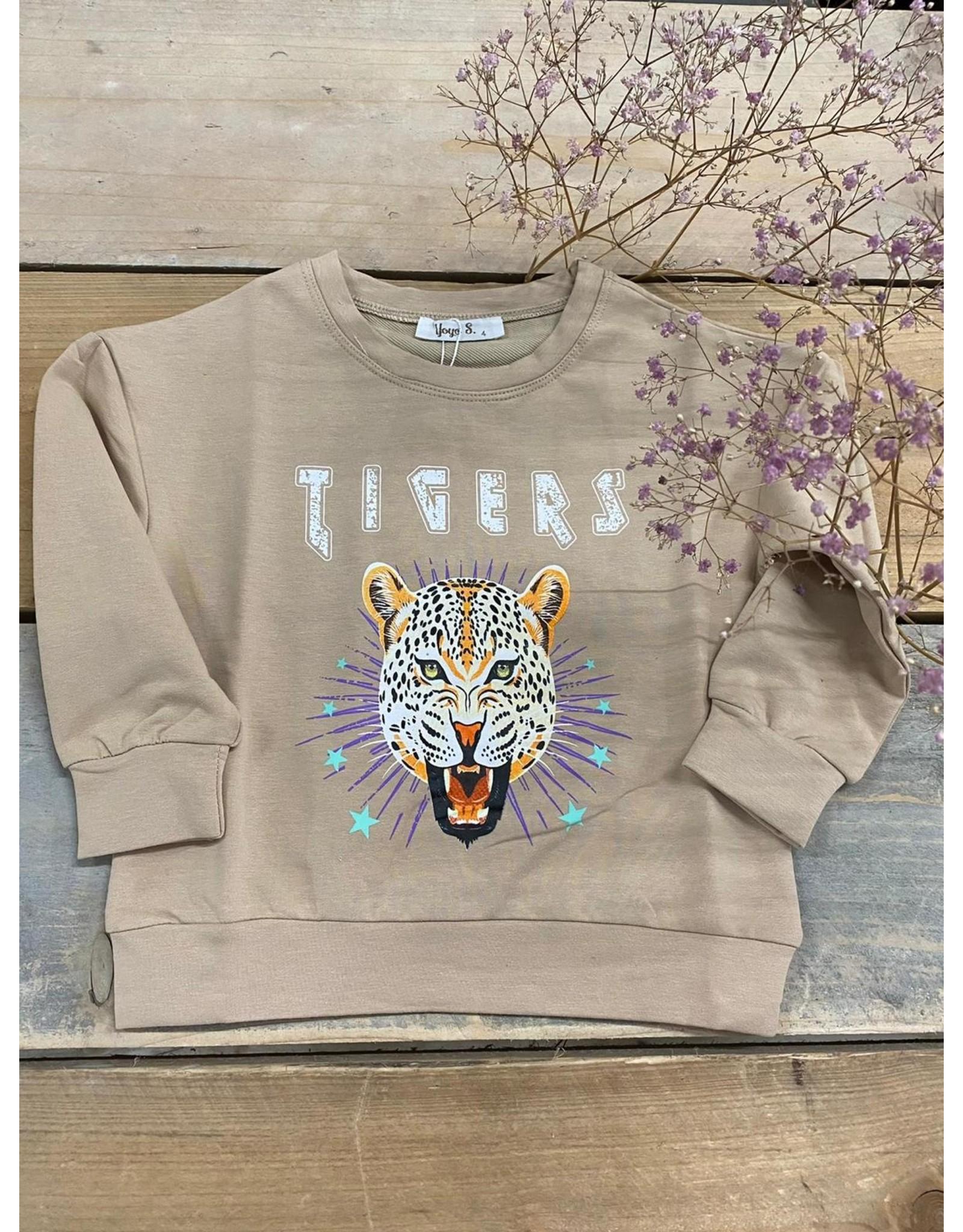 Kiezel Tiger Sweater Beige