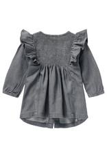Noppies Noppies G Dress LS Maroth Grey Demin