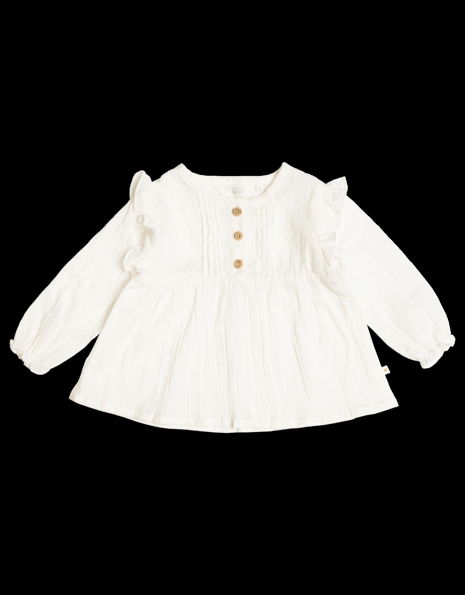 Moodstreet Petit Moodstreet PETIT Fine Woven Broidery Blouse Warm White