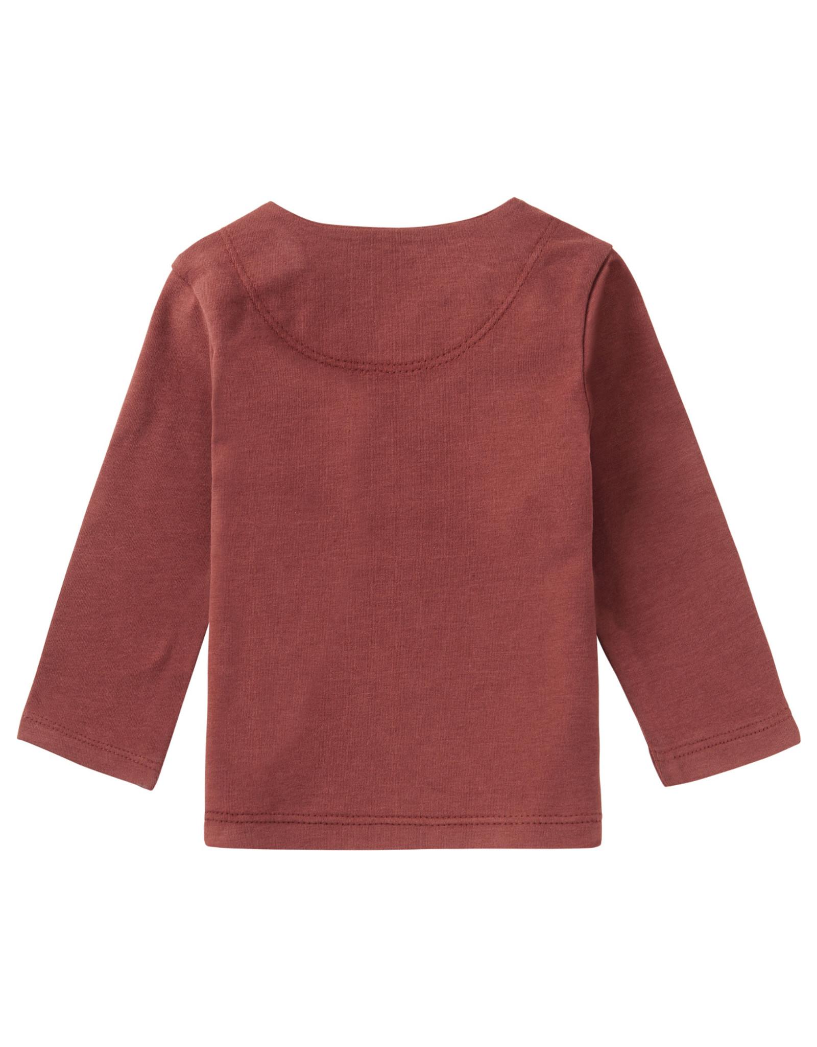 Noppies Noppies U  T-shirt Longsleeve Orkney Mahoganey maat 44