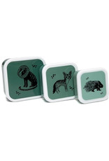 Petit Monkey Petit Monkey Lunchbox Set Black Animals Salie