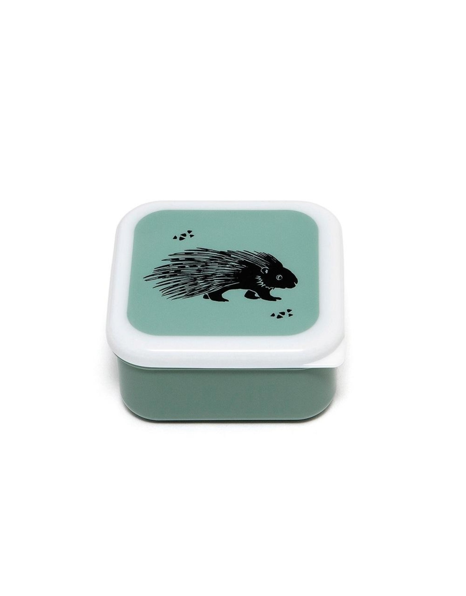 Petit Monkey Petit Monkey Fruit/Lunch Bakjes Set Black Animals Salie