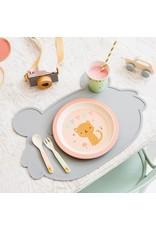 Petit Monkey Petit Monkey Cutlery Set Leopard Peach
