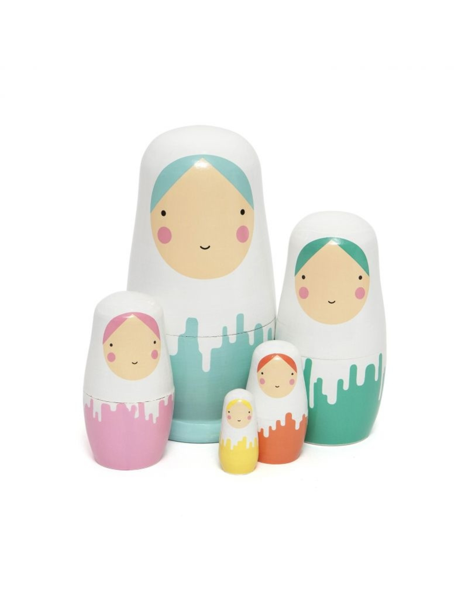 Petit Monkey Petit Monkey Nesting Dolls Dripped Dolls