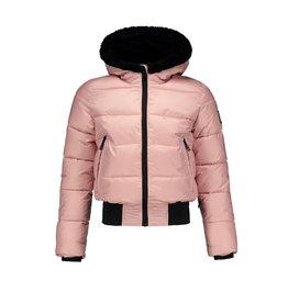 Super Rebel Super Rebel Basic Shiny Girls Fashion Jacket LIGHT PINK