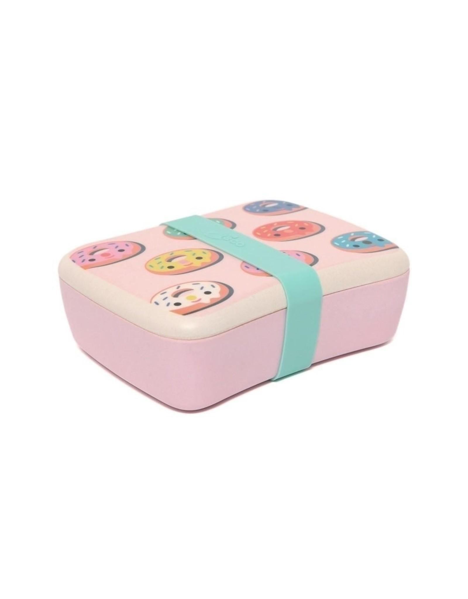 Petit Monkey Petit Monkey Bamboo Lunchbox Donuts Pink