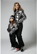 Super Rebel Super Rebel Basic Metallic Ski Jacket Dames SILVER OXCID