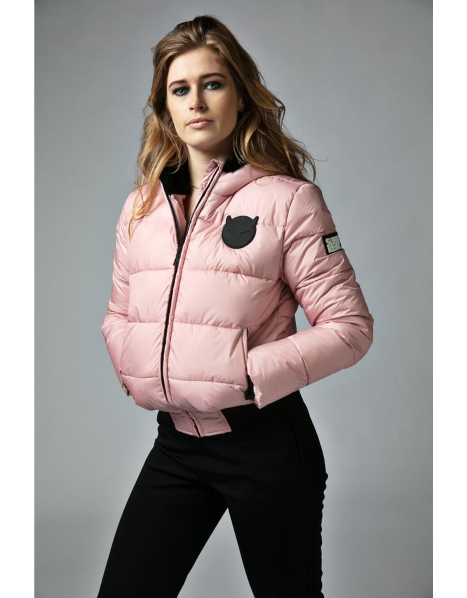 Super Rebel Super Rebel Basic shiny Ski Jacket Dames LIGHT Pink