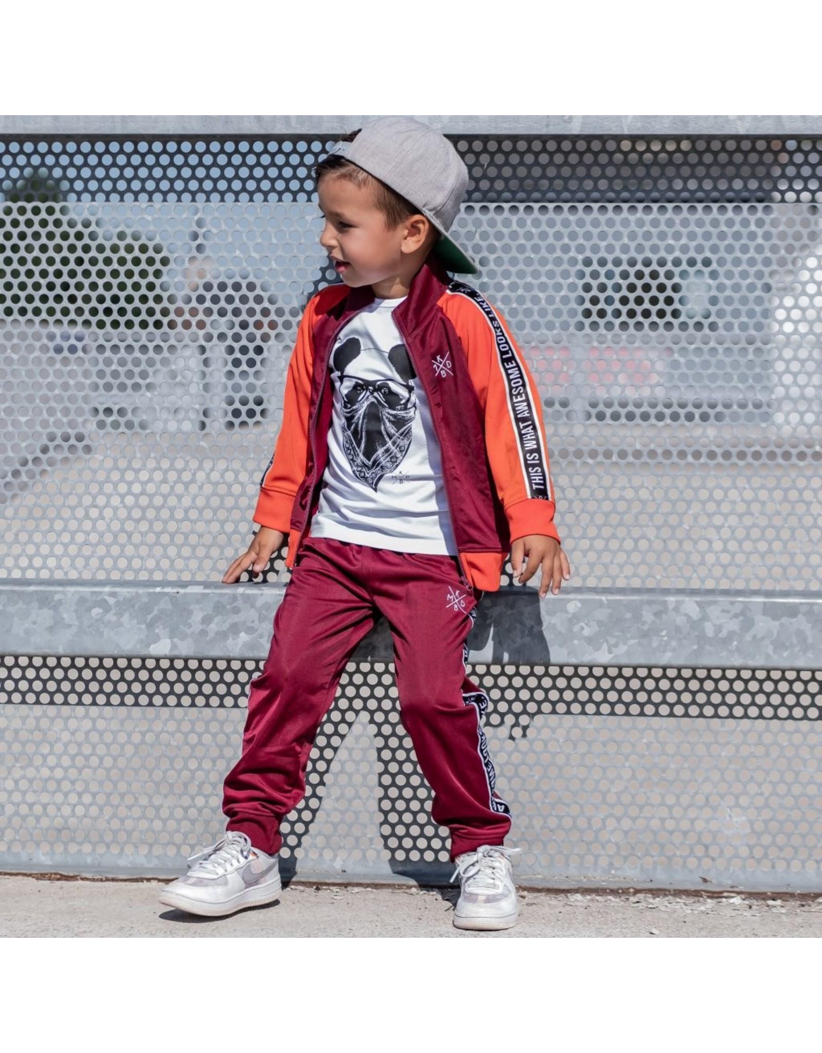 KMDB KMDB Kids Trackpants Trick Bordeaux