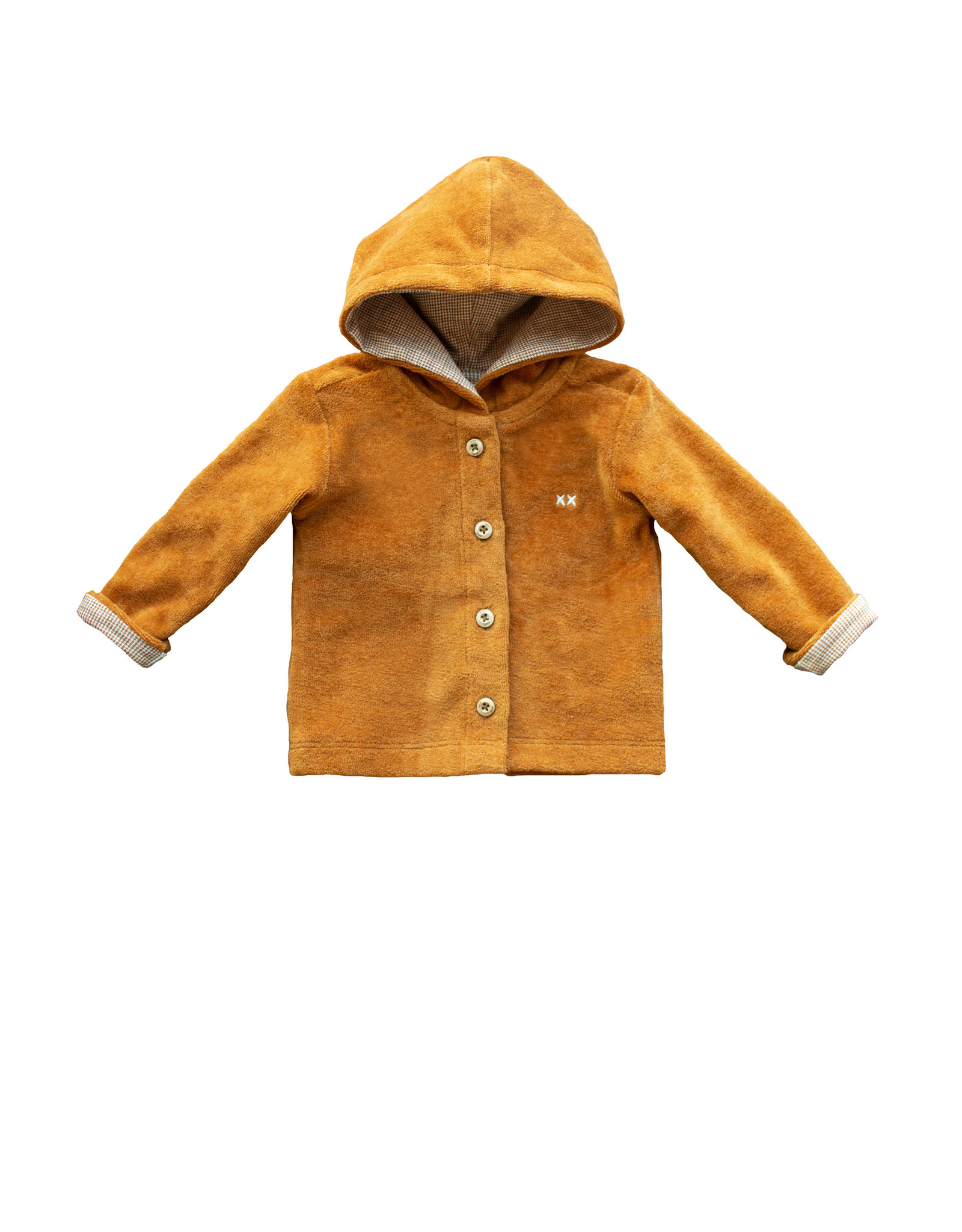 Moodstreet Petit Moodstreet PETIT Hooded Velours Vest Caramel