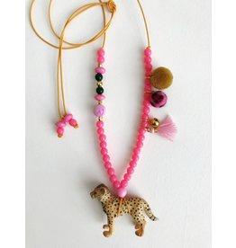 ByMelo ByMelo Dierenketting Meisje Lou het Luipaard