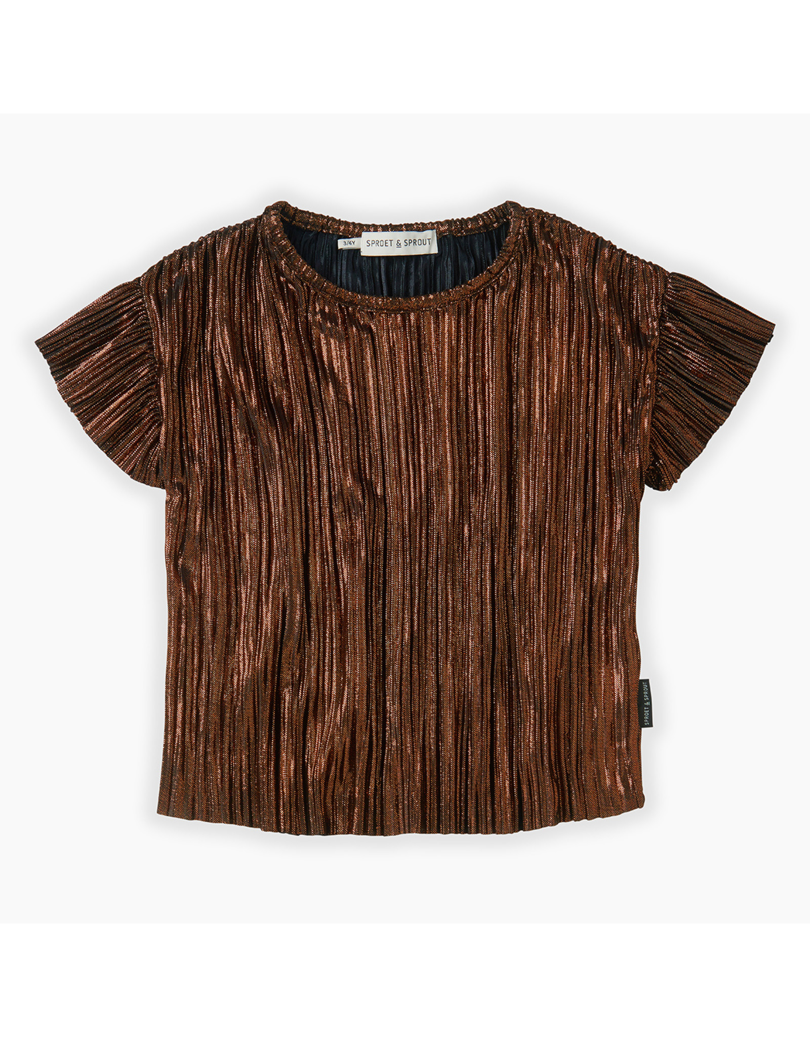 Sproet & Sprout Sproet & Sprout Top Ruffle Metallic Gold