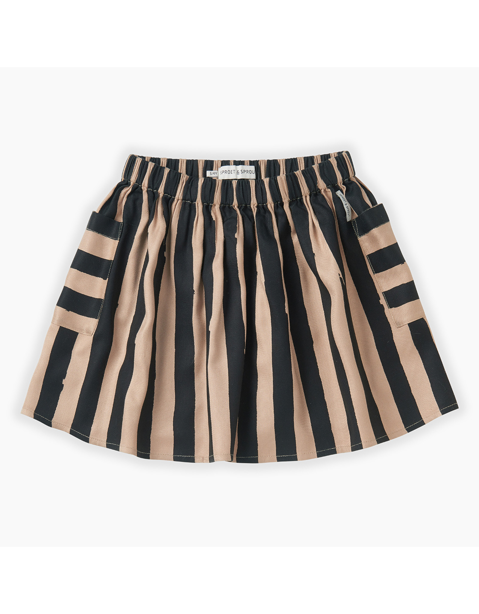 Sproet & Sprout Skirt Painted Stripe Sesame
