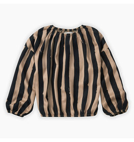 Sproet & Sprout Sproet & Sprout Blouse Painted Stripe Sesame