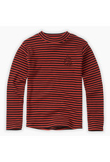Sproet & Sprout Turtleneck Rib Stripe Grenadine
