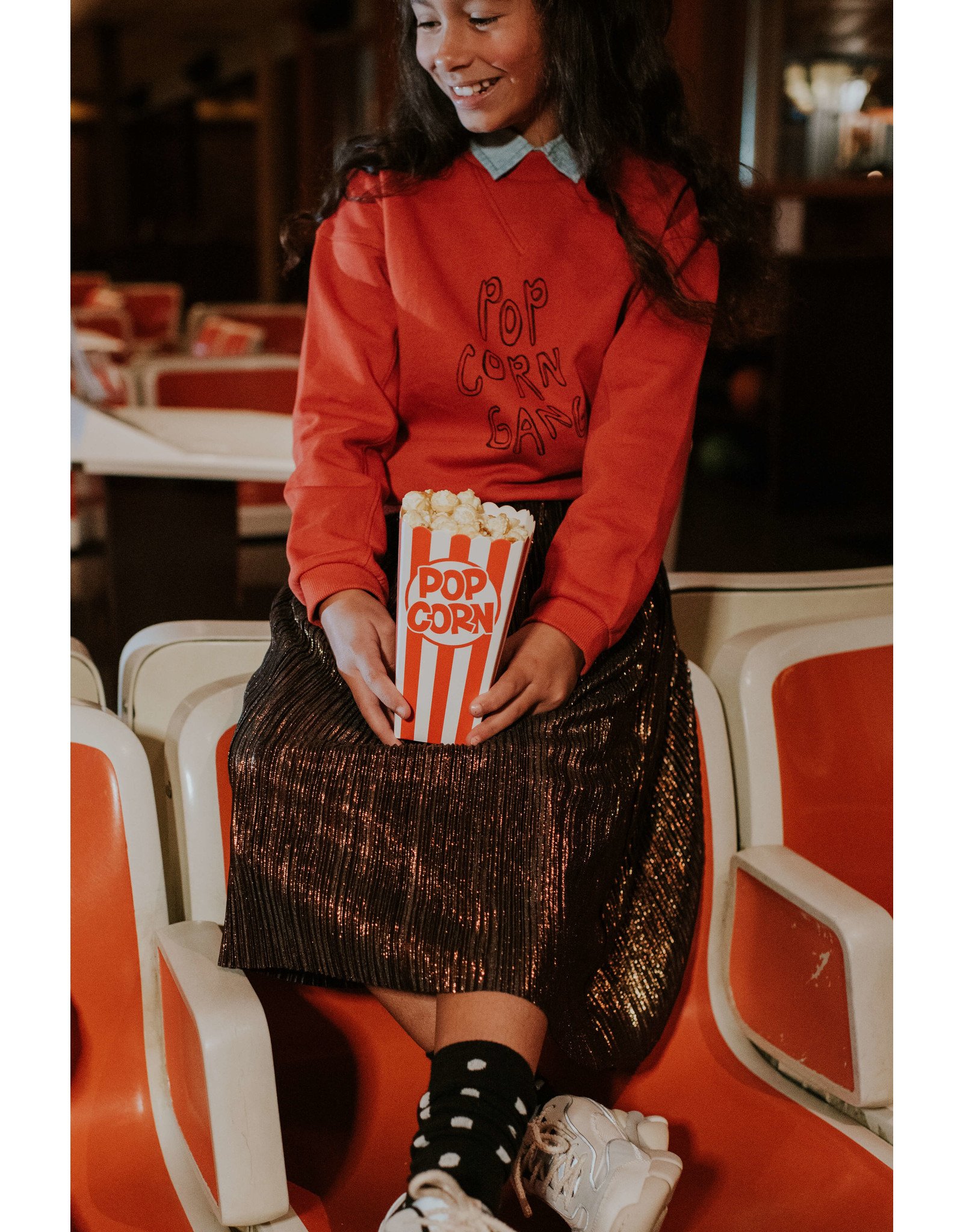 Sproet & Sprout Sweatshirt Popcorn Gang Grenadine