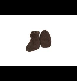 Nanami Nanami Newborn Shoe ribvelvet Brown