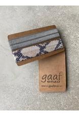 Gaaf enzo Gaaf enzo Pop-Up armbandjes set van 2 Zilvergrijs/Snake