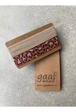 Gaaf enzo Gaaf enzo Pop-Up armbandjes set van 2 Beige-Leopard