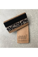 Gaaf enzo Gaaf enzo Pop-Up armbandjes set van 2 Zwart-Leopard