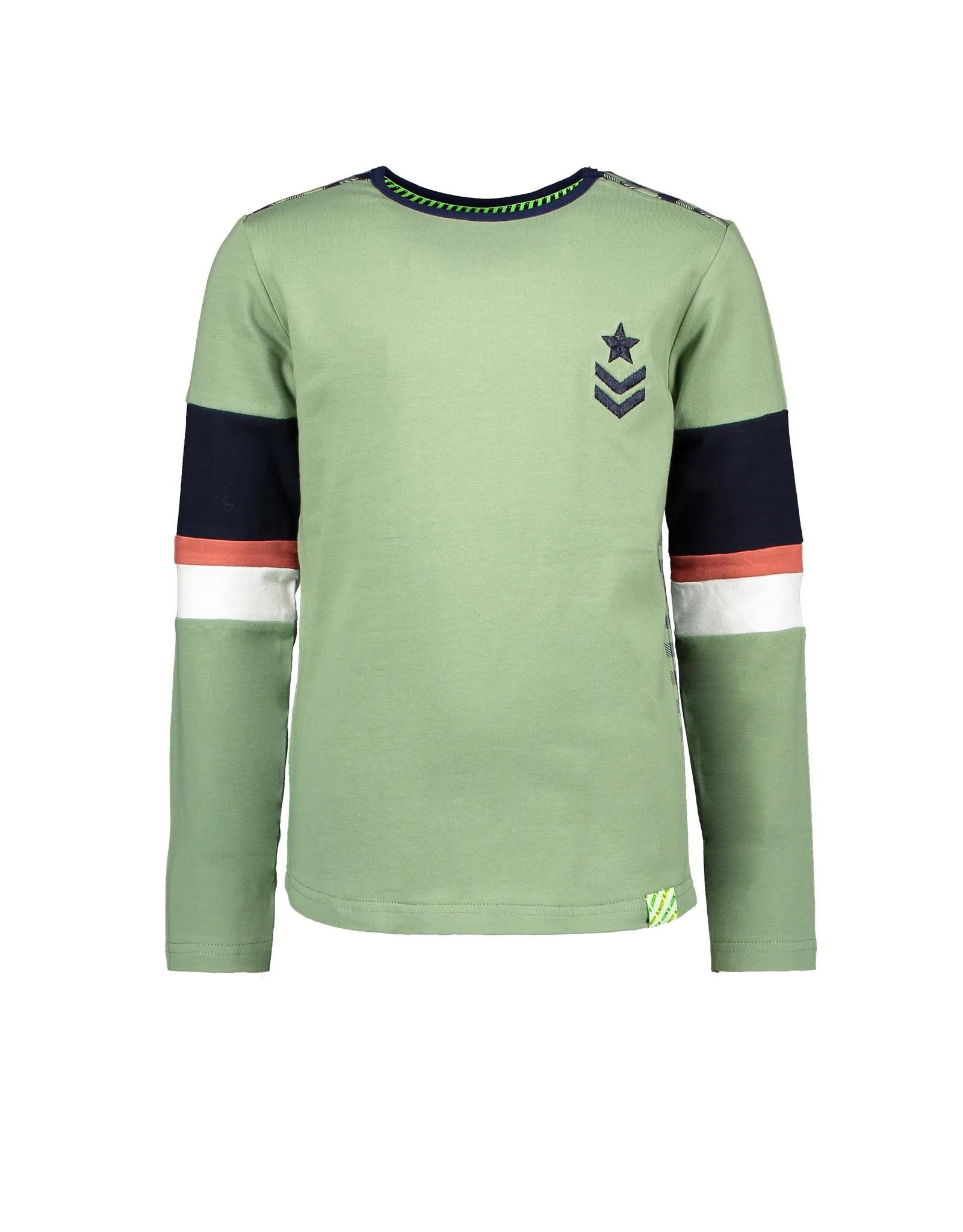 B.Nosy B. Nosy Boys Shirt With Contrast Check Backside Hunter Green