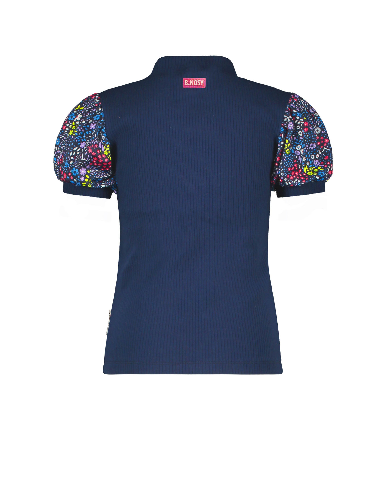 B.Nosy B. Nosy Girls SS Shirt With Puff Sleeves Space Blue