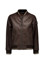 Red & Blu Red & Blu Milton Leather Jacket Dark Brown