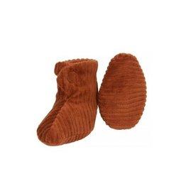 Nanami Nanami Newborn Shoe Rib Velvet Caramel