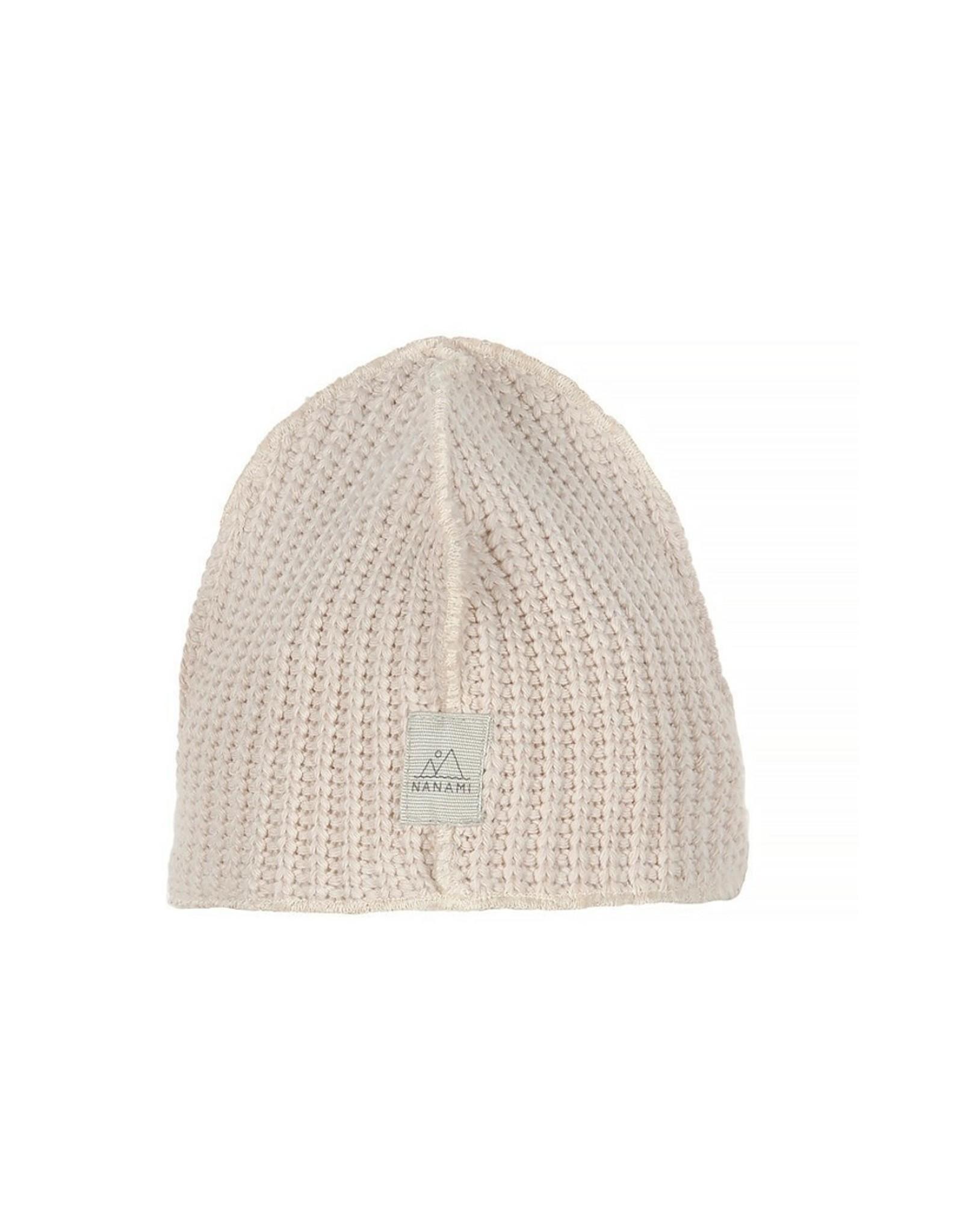 Nanami Nanami Baby Knit Rib Hat  Naturel
