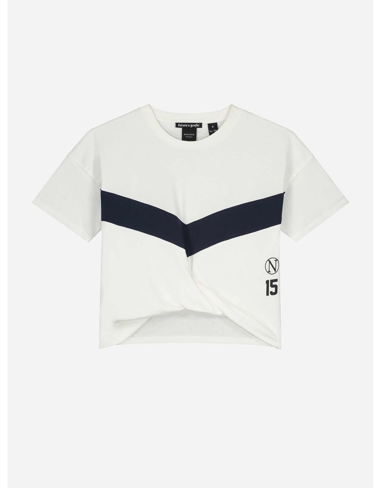 Nik&Nik NIK & NIK Ada Sport T-shirt Off White