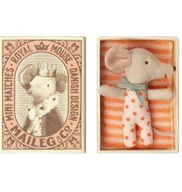 Maileg Maileg Baby Mouse  Sleepy Wakey in Box Girl