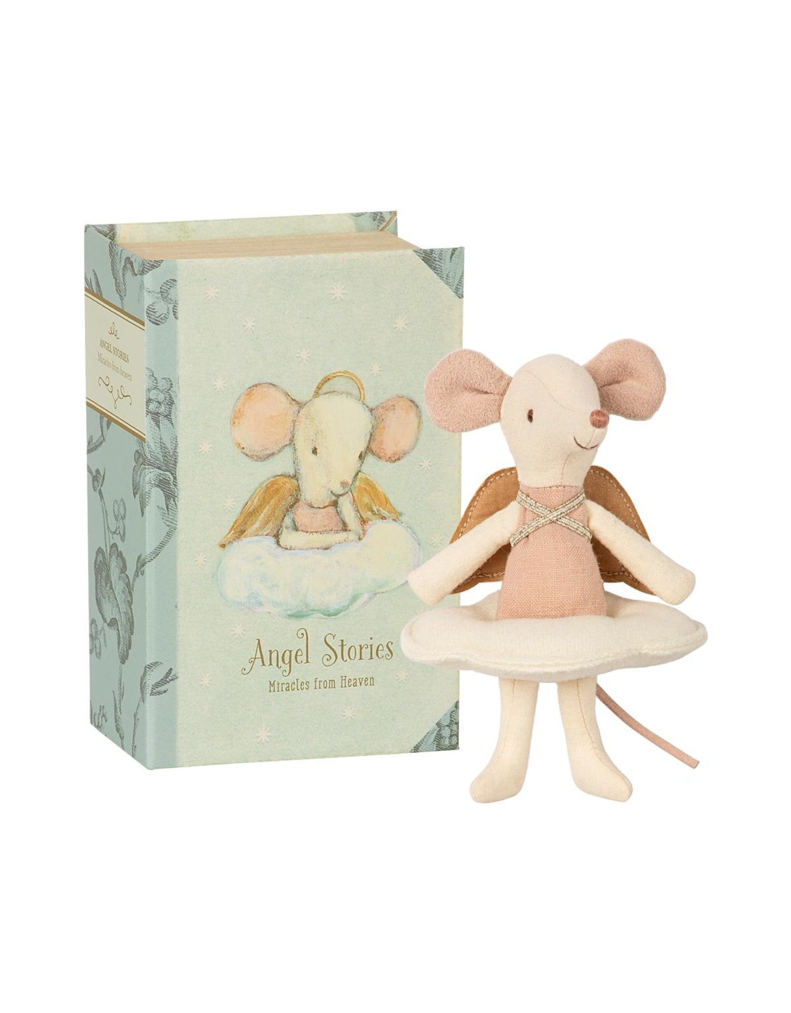Maileg Maileg Angel Stories Big Sister Mouse in Book