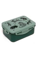 Petit Monkey Petit Monkey Lunchbox Black Animals Salie