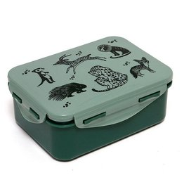Petit Monkey Petit Monkey Lunchbox Black Animals Salie